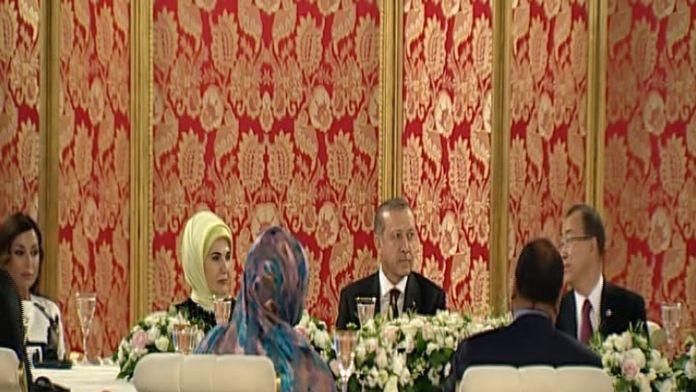 Cumhurbaşkanı Erdoğan'dan liderler onura yemek
