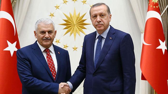 Erdoğan AK Parti Genel Başkanı Yıldırım'ı kabul etti