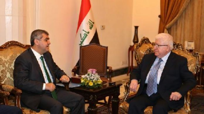 Irak Cumhurbaşkanı Fuad Masum, Türkiye'nin Bağdat Büyükelçisi Faruk Kaymakcı'yı kabul etti
