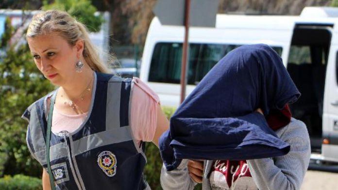 Terör örgütüne üye olmaktan aranan kadın kavgada yakalandı