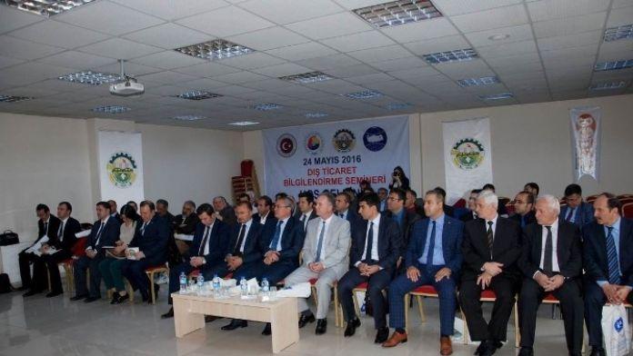 Ardahan'da Dış Ticaret Bilgilendirme Semineri Gerçekleştirildi