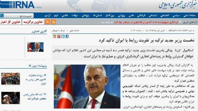 İran, Başbakan Yıldırım'ı olumlu karşıladı