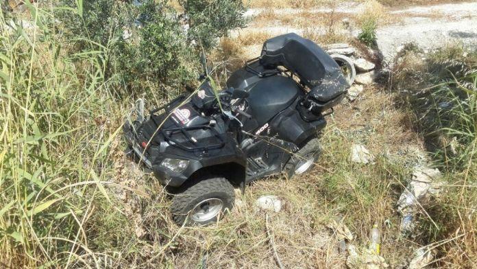 İngiliz turistler ATV ile kanala uçtu: 1 ölü, 1 yaralı