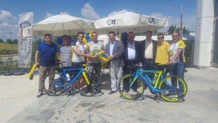 Fenerbahçe'nin '1 Milyon Üye İçin Pedalla' Ekibi Tekirdağ'da