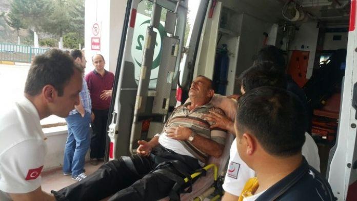 Merdivenden Düşen Suriye Uyruklu Yaşlı Adam Yaralandı