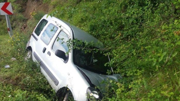 Cideli Muhtar, Trafik Kazasında Yaralandı