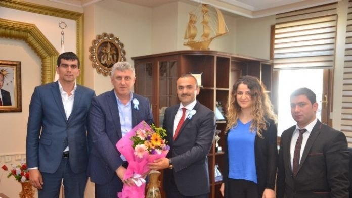 Başkan'dan Çalışanlarına Ziyaret