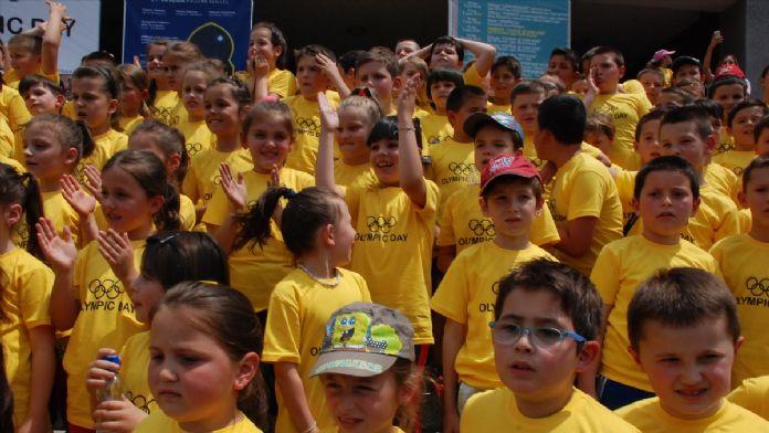Kosova'da çocuk koşusu düzenlendi