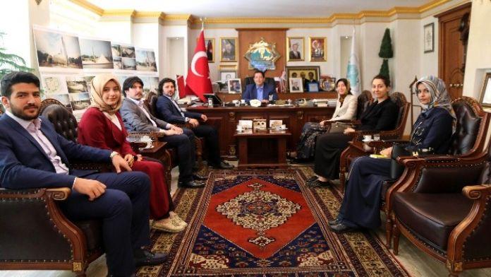 Tügva Kadın Ve Aile Koordinatörü Başkan Yazgı'yı Ziyaret Etti