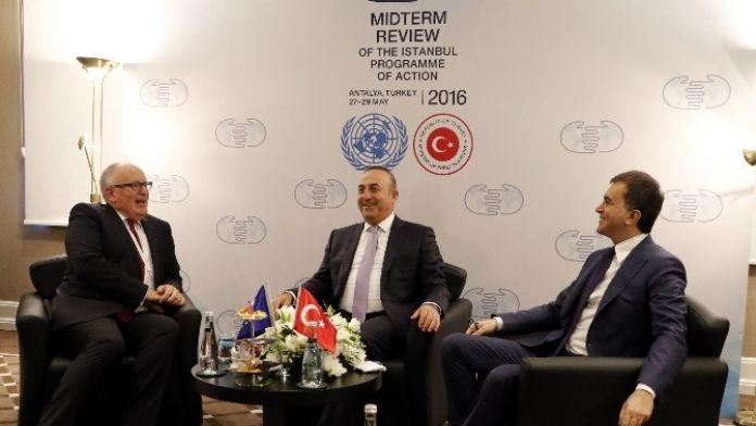 Bakanlar Çavuşoğlu Ve Çelik Vize Konusunu AB Komisyonuna Taşıdı