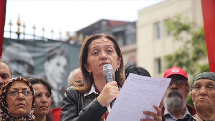 DİSK'ten madencilere destek protestosu