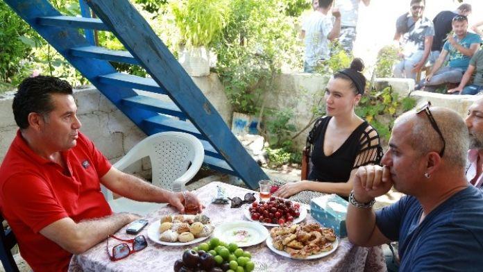 Başkan Kocadon, Bodrum Masalı Setini Ziyaret Etti