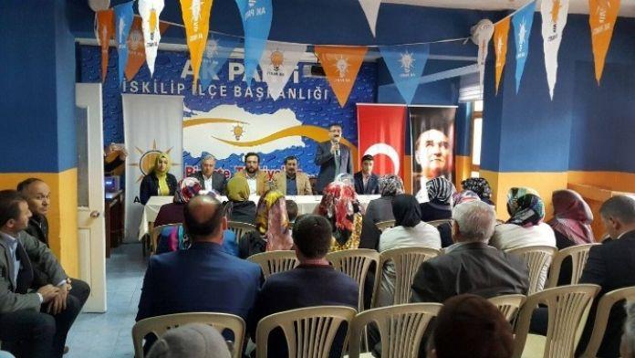 Bekiroğlu Ve Yıldırım'dan AK Parti İskilip İlçe Teşkilatına Ziyaret
