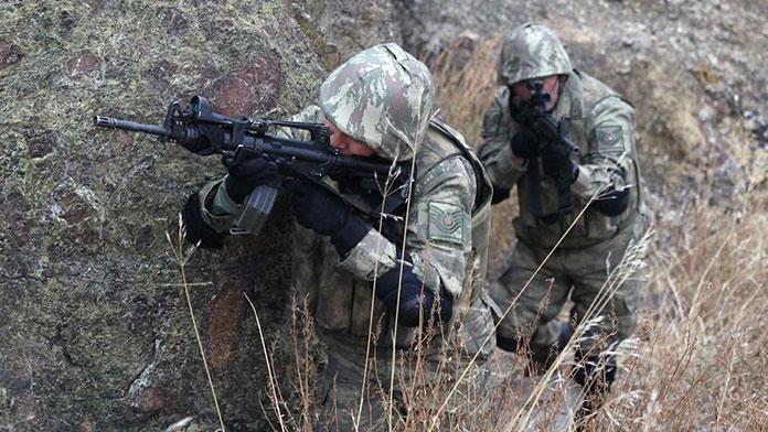 PKK'lılara atılan havan kaçakçıları vurdu!