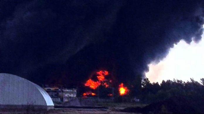 Mühimmat deposunda yangın: 17 ölü