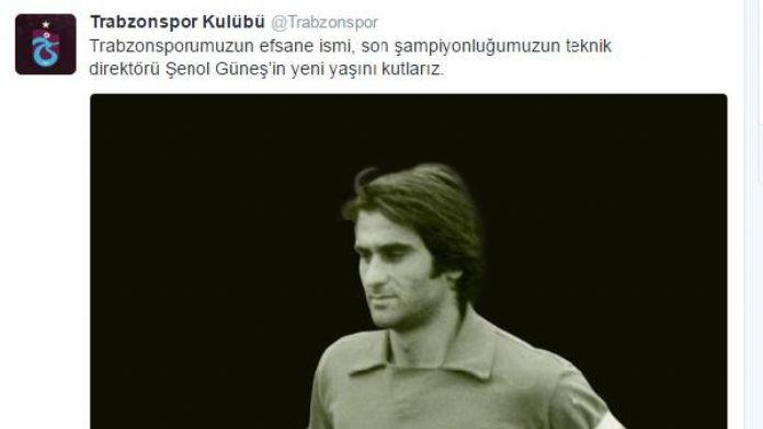 Trabzonspor, Şenol Güneş'in doğum gününü kutladı