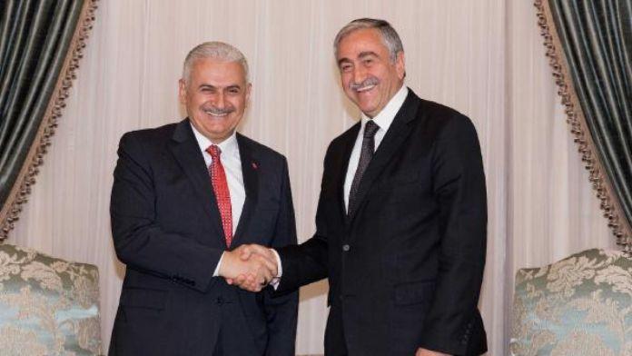 KKTC Cumhurbaşkanı Akıncı Başbakan Yıldırım'ı kabul etti