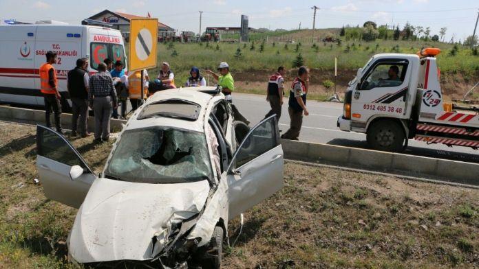 AK Partili başkan ve emniyet müdürü kazada yaralandı