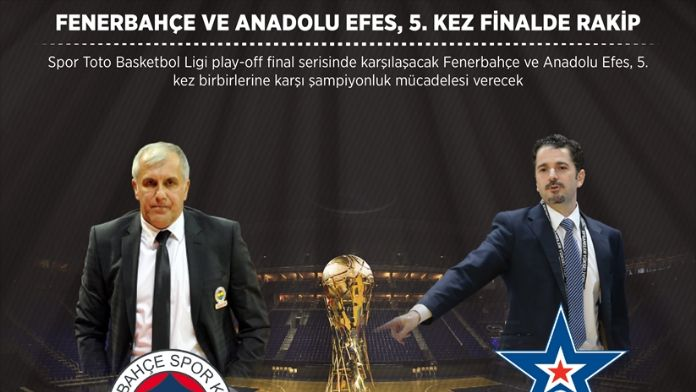 GRAFİKLİ - Fenerbahçe ve Anadolu Efes, 5. kez finalde rakip