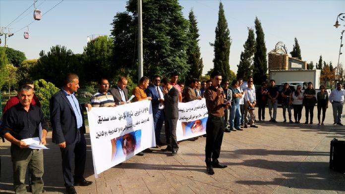 IKBY'de İranlı aktivist için destek gösterisi