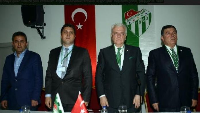 Bursaspor Başkanı Ay: 4,5 aylık süre içinde tam bir hayal kırıklığı yaşadım