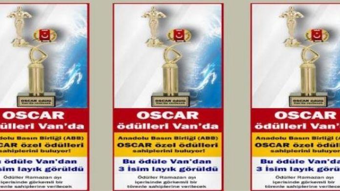 Van'da ABB Oscar Özel Ödülleri Töreni Yapılacak