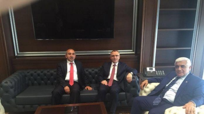 Kara, Maliye Bakanı Ağbal'ı Ziyaret Etti