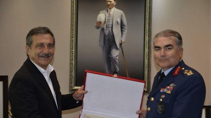 Korgeneral Şanver'den Başkan Ataç'a Ziyaret