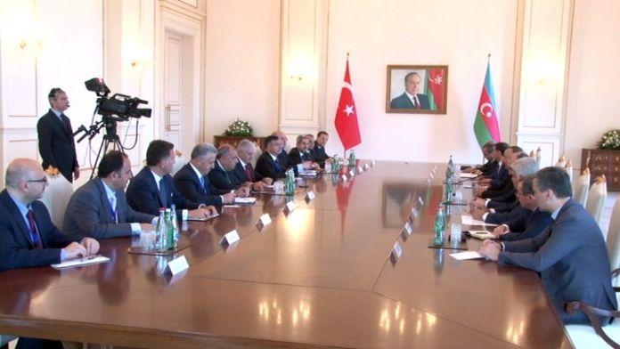 Yıldırım Aliyev'le görüştü