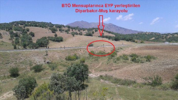 Diyarbakır'da yola tuzaklanan patlayıcı imha edildi