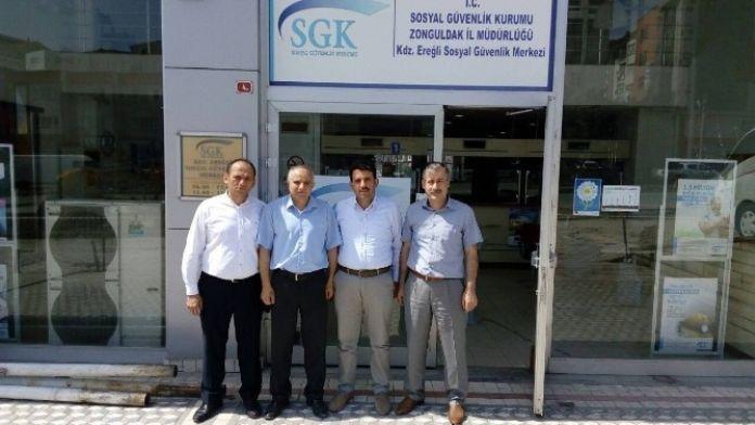AK Parti İlçe Başkanı Çakır'dan SGK'ya Ziyaret