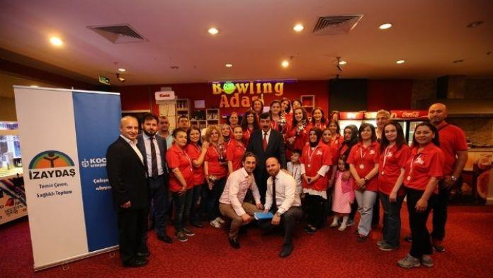 İZAYDAŞ'ta 4. Bayanlar Bowling Turnuvası Yapıldı
