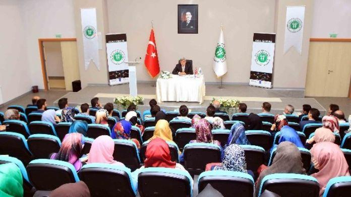 Başkan Karaosmanoğlu, İlahiyat Fakültesinde Öğrencilerle Buluştu