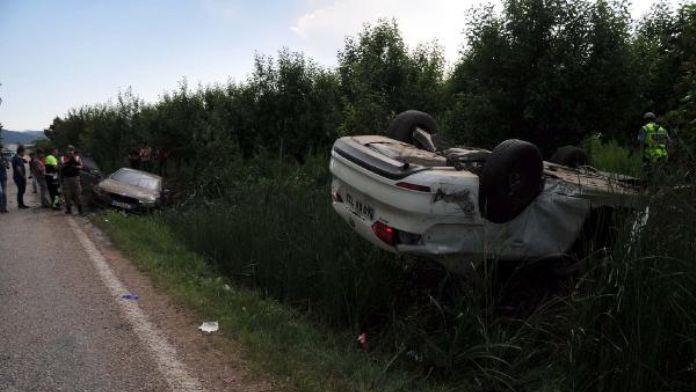 Tokat'ta hatalı sollama kazası: 1 Yaralı
