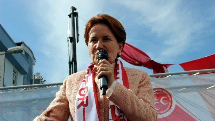MHP Genel Başkan Adayı Akşener, Nevşehir'de Miting Düzenledi