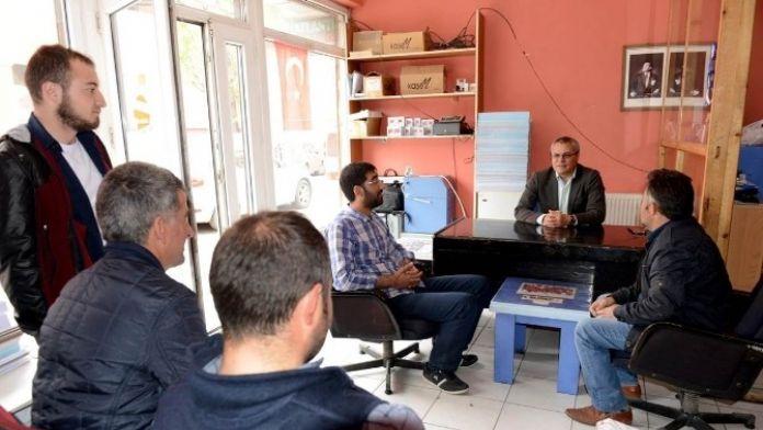 Vali Deniz, Gazetecilere Veda Ziyaretinde Bulundu