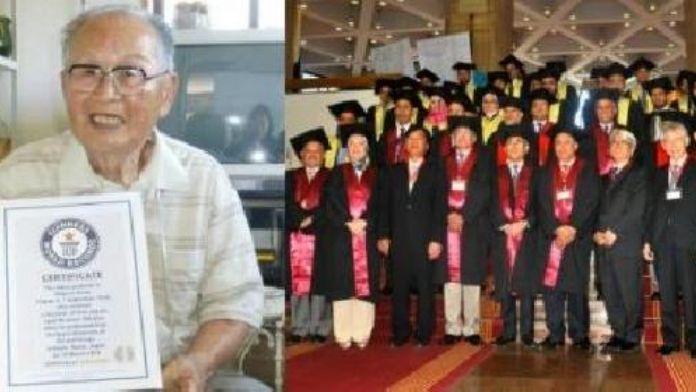 96 yaşında üniversiteden mezun oldu, Guinness Rekorlar Kitabı'na girdi