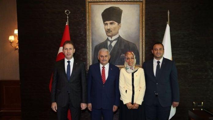 Çalapkulu, Başbakan Yıldırım'ı Ziyaret Etti