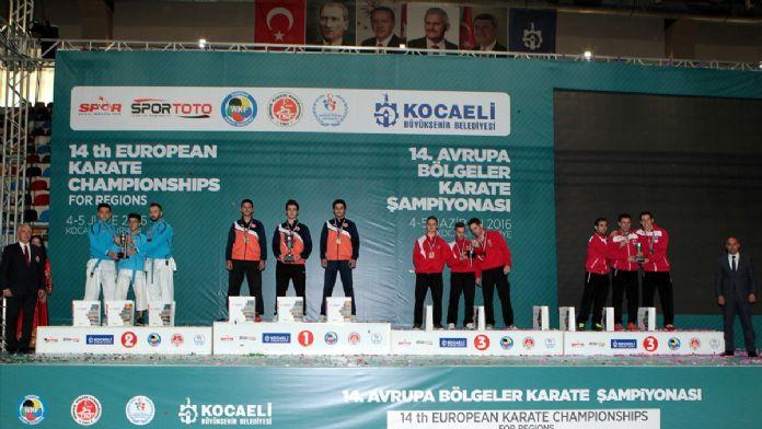 14. Avrupa Bölgeler Karate Şampiyonası sona erdi