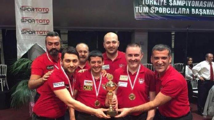 Gaziantepspor Bilardo'da Avrupa Şampiyonu