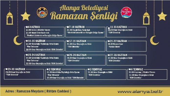 Alanya'da Ramazan Meydanı Etkinlikleri Başlıyor