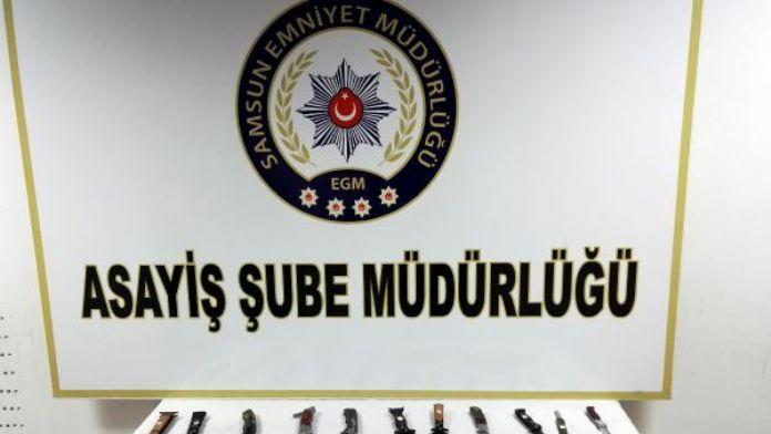 Polis denetimlerinde ruhsatsız tabanca ve uyuşturucu ele geçirildi