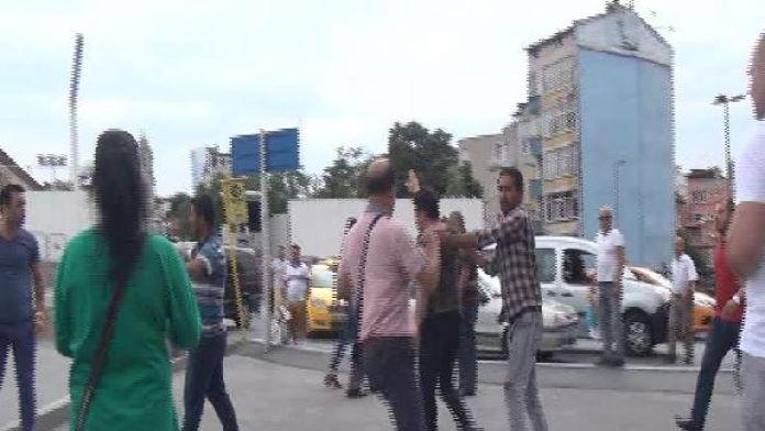 Taksim'deki kavga kamerada