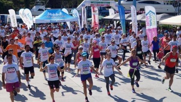Marmaris'te İlk Defa Koşu Maratonu Düzenlendi