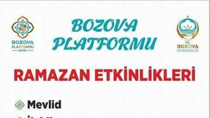 Bozova Platformu 2016 Ramazan Etkinlikleri Başladı