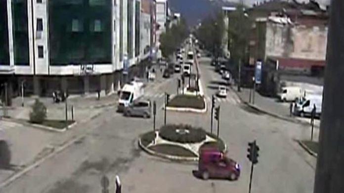 Mobese kameraları kazaları kaydetti