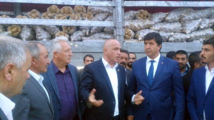 Pasinler Patatesi Mardin'e Gönderildi