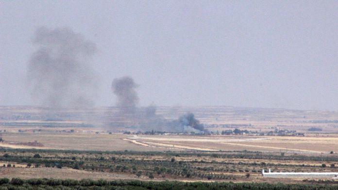 IŞİD'i karadan obüs topları, havadan uçaklar vuruyor