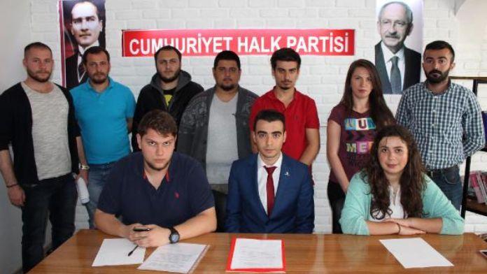 Sivas'ta CHP'li gençlerden teröre tepki