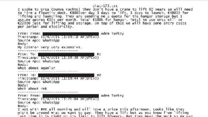 Zarrab ile ilgili 222 sayfalık yeni belge- Ek fotoğraf